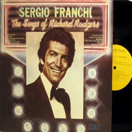 Franchi, Sergio - The Songs Of Richard Rodgers: My Funny Valentine, My Heart Stood Still, If I Loved You, Bali Ha'I, Blue Moon (Vinyl STEREO LP record, 1977 re-issue) - NM9/NM9 - LP Records