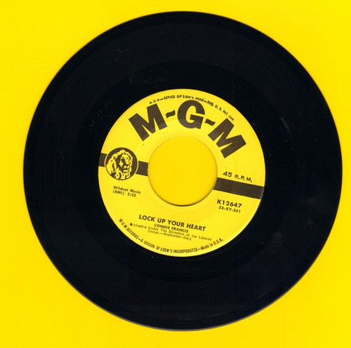 Francis, Connie - Lock Up Your Heart/I'm Sorry I Made You Cry - EX8/ - 45 rpm Records