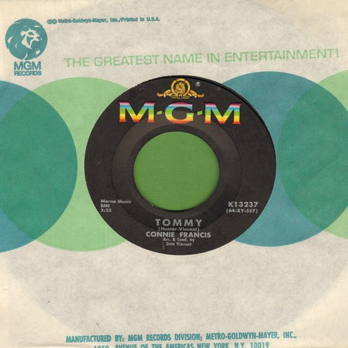 Francis, Connie - Tommy/Be Anything (But Be Mine) (with MGM company sleeve) - NM9/ - 45 rpm Records