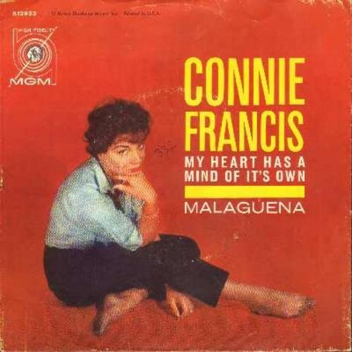 Francis, Connie - My Heart Has A Mind Of Its Own/Malaguena (with picture sleeve) - EX8/VG7 - 45 rpm Records