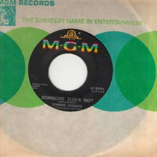 Francis, Connie - Someone Else's Boy (Schoener fremder Mann)/Breakin' In A Brand New Broken Heart (with MGM company sleeve) - EX8/ - 45 rpm Records