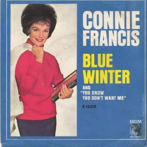 Francis, Connie - Blue Winter/You Know You Don't Want Me (with picture sleeve) - NM9/VG7 - 45 rpm Records