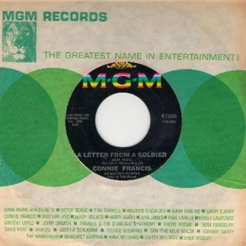 Francis, Connie - A Letter From A Soldier/Somewhere, My Love (with MGM company sleeve) - NM9/ - 45 rpm Records