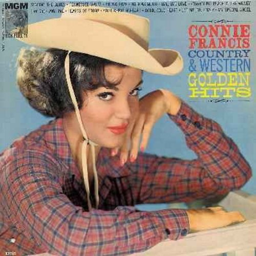 Francis, Connie - Country & Western Golden Hits: Singing The Blues, Young Love, Tennessee Waltz, Half As Much, Bye Bye Love, My Special Angel, Your Cheatin' Heart (Vinyl MONO LP record) - EX8/VG7 - LP Records