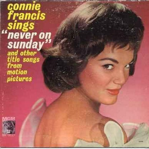 Francis, Connie - Never On A Sunday: Song From Moulin Rouge, April Love, Tammy, Love Me Tender (Vinyl MONO LP record) - NM9/VG7 - LP Records