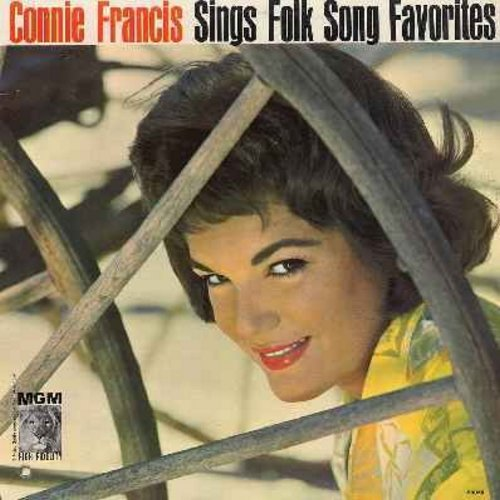Francis, Connie - Sings Folk Song Favorites: Clementine, On Top Of Old Smokey, Oh Susanna, She'll Be Comin' 'Round The Mountain (Vinyl MONO LP record) - EX8/EX8 - LP Records