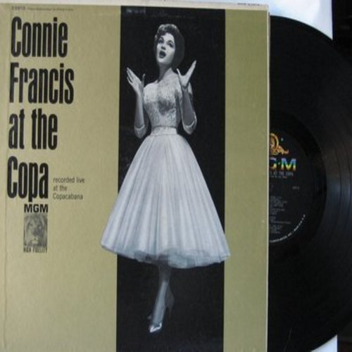Francis, Connie - At The Copa: Many Tears Ago, Mama, You Always Hurt The One You Love, Al Jolson Medley (Vinyl MONO LP record) - EX8/EX8 - LP Records