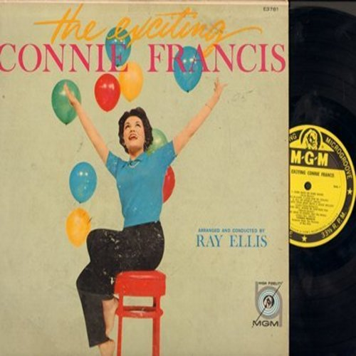 Francis, Connie - The Exciting Connie Francis: Come Rain Or Come Shine, Hold Me - Thrill Me - Kiss Me, Melancholy Serenade, Rock-A-Bye Your Baby With A Dixie Melody, Time After Time (Vinyl MONO LP record, yellow label first issue) - NM9/EX8 - LP Records