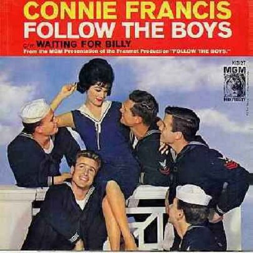 Francis, Connie - Follow The Boys/Waiting For Billy (with picture sleeve) - EX8/VG7 - 45 rpm Records