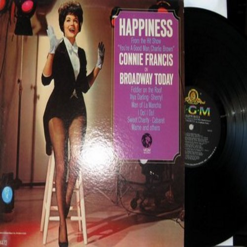 Francis, Connie - Happiness - Connie Francis On Broadway: Together Forever/My Cup Runneth Over, Willkommen/Cabaret, Fiddler On The Roof/To Life, The Impossible Dream (Vinyl MONO LP record) - NM9/EX8 - LP Records