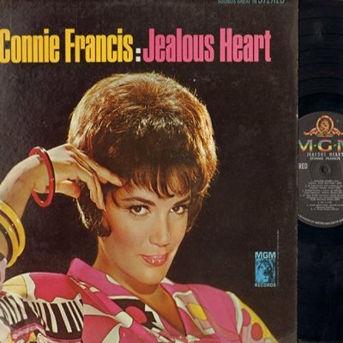 Francis, Connie - Jealous Heart: Ivory Tower, My Foolish Heart, So Long Good Bye (Vinyl MONO LP record) - M10/VG7 - LP Records