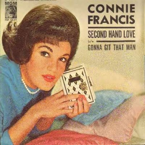Francis, Connie - Second Hand Love/Gonna Git That Man (with picture sleeve) - EX8/VG7 - 45 rpm Records