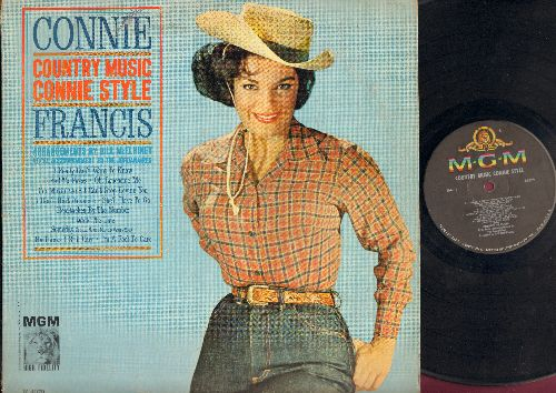 Francis, Connie - Country Music Connie Style: I Fall To Pieces, I Really Don't Want To Know, I Walk The Line, Heartaches By The Number, I Can't Stop Loving You (Vinyl MONO LP record) - EX8/VG6 - LP Records