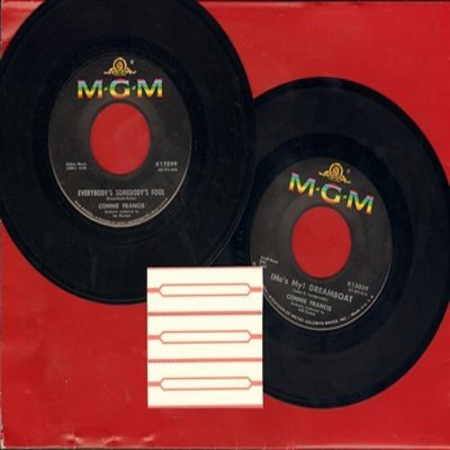 Francis, Connie - 2 for 1 Special: Everybody's Somebody's Fool/(He's My) Dreamboat (2 vintage first issue 45rpm records with juke box labels for the price of 1!) - EX8/ - 45 rpm Records