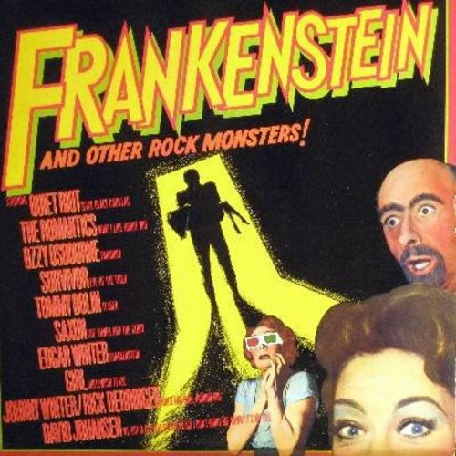 Winter, Edgar, Quiet Riot, Ozzy Osbourne, Survivor, Romantics, others - Frankenstein And Other Rock Monsters!: What I Like About You, Paranoid, Eye Of The Tiger, Slick Black Cadillac (vinyl STEREO LP record) - M10/NM9 - LP Records
