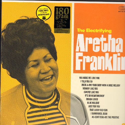 Franklin, Aretha - The Electrifying Aretha Franklin: You Made Me Love You, Rough Lover, Blue Holiday, Ac-Cent-Tchu-Ate The Positive, That Lucky Old Sun (180 gram Virgin Vinyl re-issue, EU Pressing, SEALED, never opened!) - SEALED/SEALED - LP Records