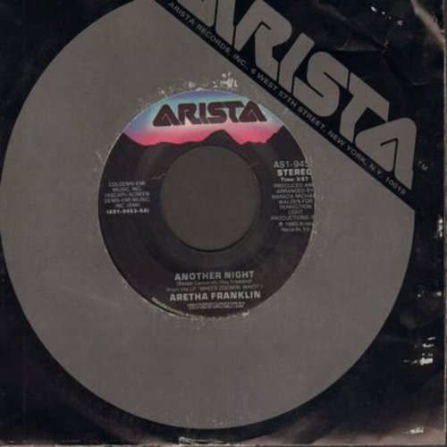 Franklin, Aretha - Another Night (Without You)/Kind Of Man (with Arista company sleeve) - NM9/ - 45 rpm Records