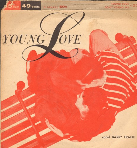 Frank, Barry - Young Love/Don't Forbid Me (DJ advance pressing with piture cover) - EX8/VG7 - 45 rpm Records