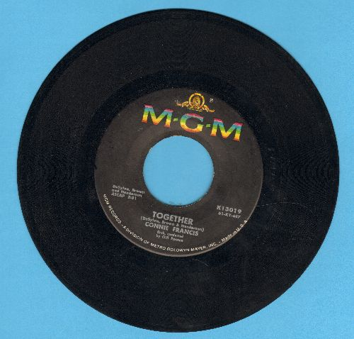 Francis, Connie - Together/Too Many Rules  - VG7/ - 45 rpm Records
