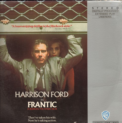 Frantic - Frantic - LASERDISC version of the 1988 Thriller starring Harrison Ford (These are 2 LASERDISCS, not any other kind of media!) - NM9/VG7 - LaserDiscs