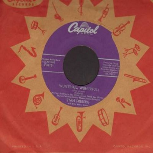 Freberg, Stan - Wun'erful, Wun'erful! (both sides) (with Capitol company sleeve) - VG7/ - 45 rpm Records