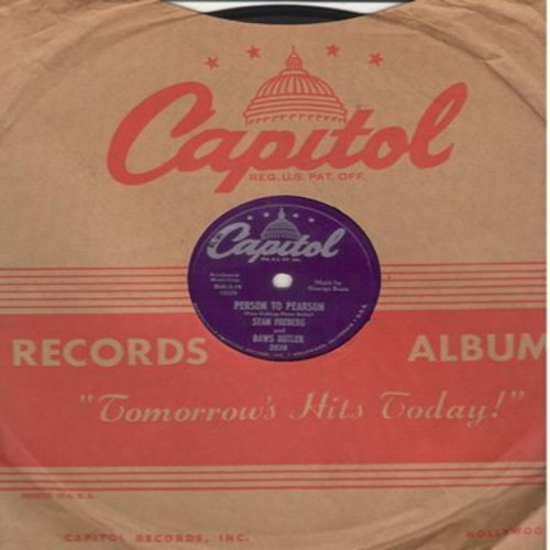 Freberg, Stan & Daws Butler - Person To Person/Point Of Order (10 inch 78 rpm record with Capitol company sleeve) - EX8/ - 78 rpm