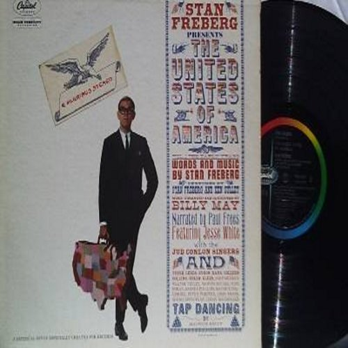 Freberg, Stan - Stan Freberg Presents The United States Of America - One of the Classic Novelty/Satire Artists with some of his best patriotic material. (Vinyl MONO LP record) - EX8/EX8 - LP Records