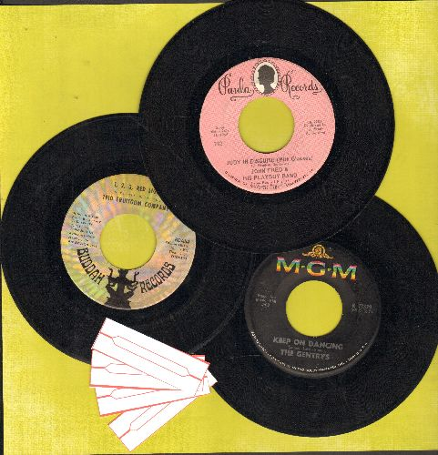 Gentrys, John Fred & His Playboy Band, 1910 Fruitgum Co. - Bubblegum 3-Pack: First issues include hits Judy In Disguise (With Glasses), 1,2,3, Red Light and Keep On Dancing. Shipped in plain paper sleeves with 4 blank juke box labels, GREAT for a juke box