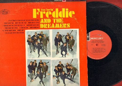 Freddie & The Dreamers - Fun Lovin' Freddie & The Dreamers: Thou Shalt Not Steal, Lonely Boy, Write Me A Letter, Don't Tell Me That (vinyl STEREO LP record) - NM9/VG7 - LP Records