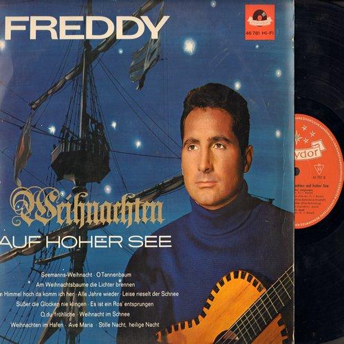 Freddy (Quinn) - Weihnachten auf hoher See: O Tannenbaum, Alle Jahre wieder, O du frohliche, Ave Maria, Weihnachten im Hafen, Stille Nacht heilige Nacht (Vinyl LP record, German Pressing) - EX8/VG7 - LP Records