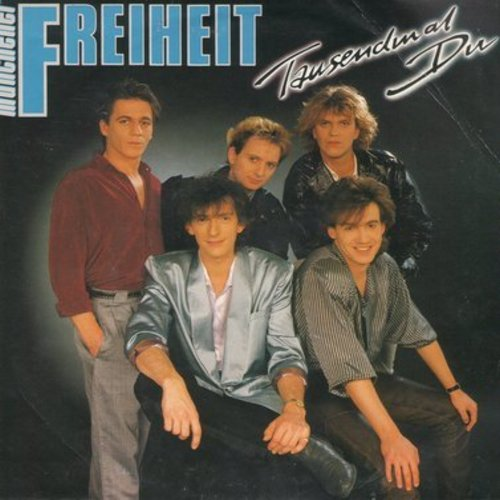 Muenchener Freiheit - Tausendmal Du/Kalt oder heiss (German Pressing, sung in German - with picture sleeve) - NM9/VG7 - 45 rpm Records