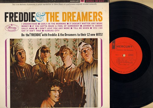 Freddie & The Dreamers - Freddie & The Dreamers: I Understand, Tell Me When, It Doesn't Matter Anymore, Short Shorts, Zip-A-Dee-Doo-Dah, What'd I Say, See You Later Alligator (Vinyl STEREO LP record) - NM9/VG7 - LP Records