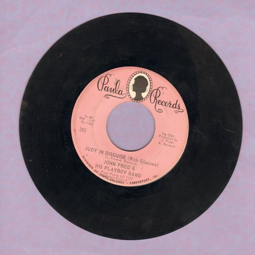 Fred, John & His Playboy Band - Judy In Disguise (With Glasses)/When The Lights Go Out (wol) - VG7/ - 45 rpm Records