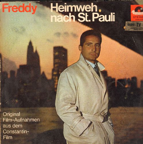 Freddy (Quinn) - Heimweh Nach St. Pauli - Original Motion Picture Soundtrack, gatefold-cover with picture pages, German Pressing, sung in German) - NM9/G5 - LP Records