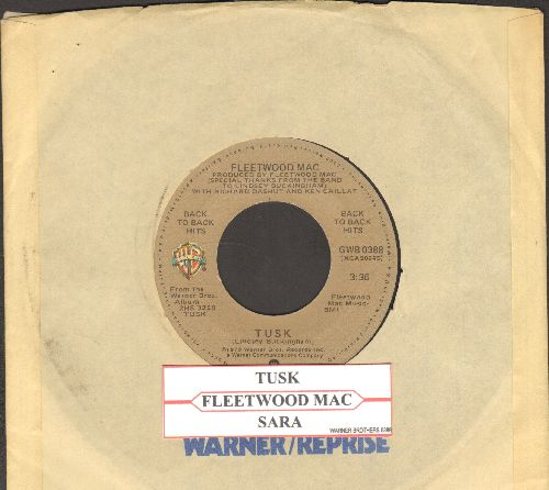 Fleetwood Mac - Tusk/Sarah (double-hit re-issue with juke box label and Warner Brothers company sleeve) - NM9/ - 45 rpm Records