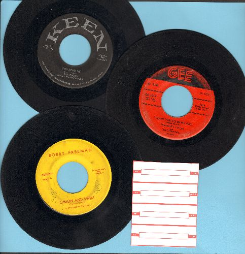 Cooke, Sam, Bobby Freeman, Frankie Lymon & The Teenagers - Vintage R&B 3-Pack: First pressings include hits You Send Me, C'Mon And Swim, I Want You To Be My Girl. Shipped in plain white paper sleeves with 4 blank juke box labels. - VG6/ - 45 rpm Records