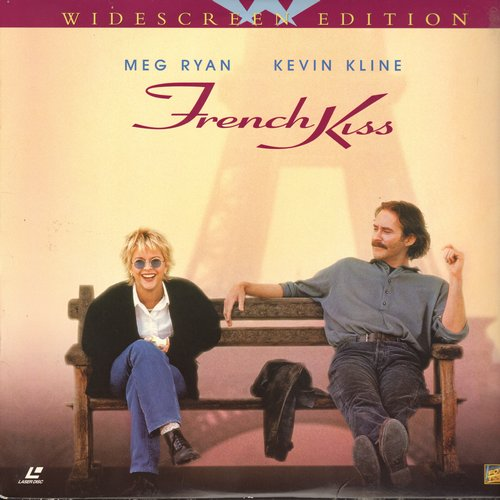 French Kiss - French Kiss - LASERDISC Widescreen Edition of the 1995 Romantic Comedy starring Meg Ryan and Kevin Kline (this is a LASERDISC, not any other kind of media!) - M10/EX8 - LaserDiscs