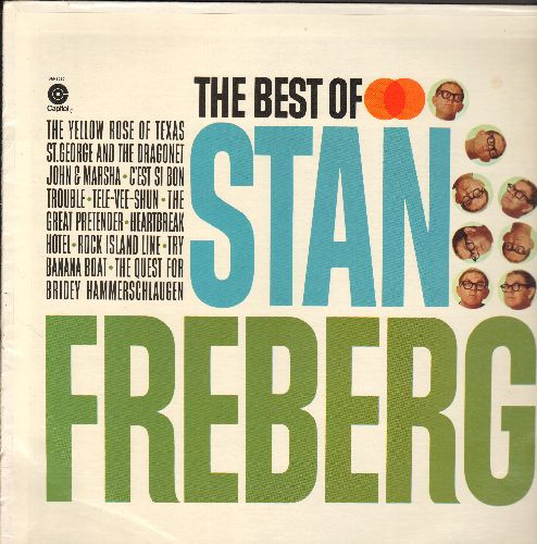 Freberg, Stan - Best Of: John And Marsha, St. George And The Dragonet, C'est Si Bon, Heartbreak Hotel (Vinyl STEREO LP record, blue label 1980s issue of vintage recordings) - NM9/NM9 - LP Records