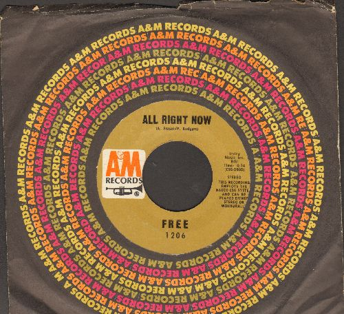 Free - All Right Now/Mouthful Of Grass (with company sleeve) - EX8/ - 45 rpm Records