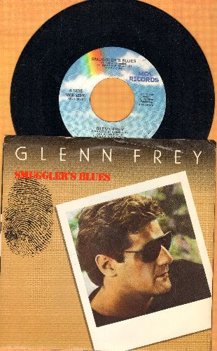Frey, Glenn - Smuggler's Blues/New Love (with picture sleeve) - NM9/EX8 - 45 rpm Records