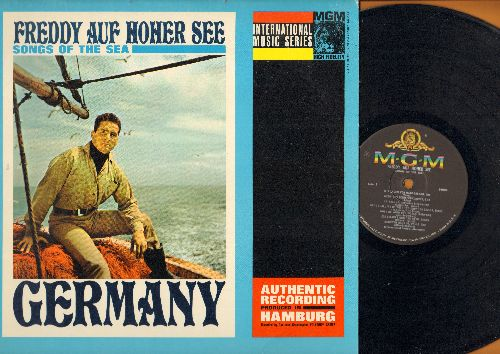 Freddy (Quinn) - Freddy Auf Hoher See - Songs Of The Sea: La Paloma, Heimweh nach St. Pauli, In Hamburg da bin ich gewesen (vinyl MONO LP record, US Pressing of German recordings) - EX8/EX8 - LP Records