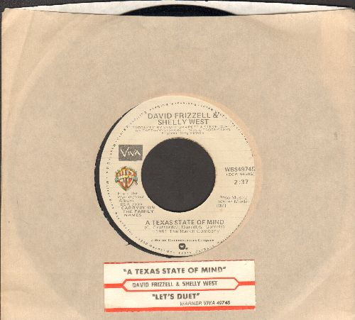 Frizzell, David & Shelly West - A texas State Of Mind/Let's Duet (with juke box label and Warner Brothers company sleeve) - EX8/ - 45 rpm Records
