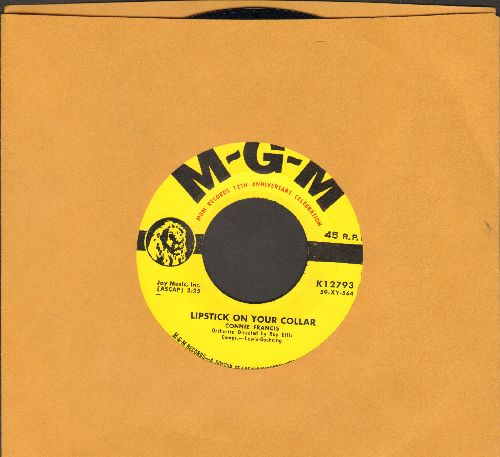 Francis, Connie - Lipstick On Your Collar/Frankie (yellow label with - MGM Records 12th Anniversity Celebration- under logo)  - NM9/ - 45 rpm Records