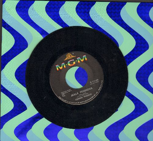 Francis, Connie - Mala Femmena/Drowning My Sorrows  - EX8/ - 45 rpm Records