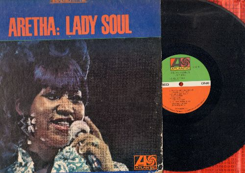 Franklin, Aretha - Aretha: Lady Soul -Cahin Of Fools, Groovin', Ain't No Way, Come Back Baby (vinyl STEREO LP record) - EX8/VG7 - LP Records