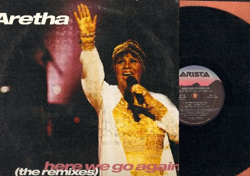 Franklin, Aretha - Here we Go Again - 12 inch vinyl Maxi Single with 5 Dance Club Remixes, with picture cover - NM9/EX8 - LP Records