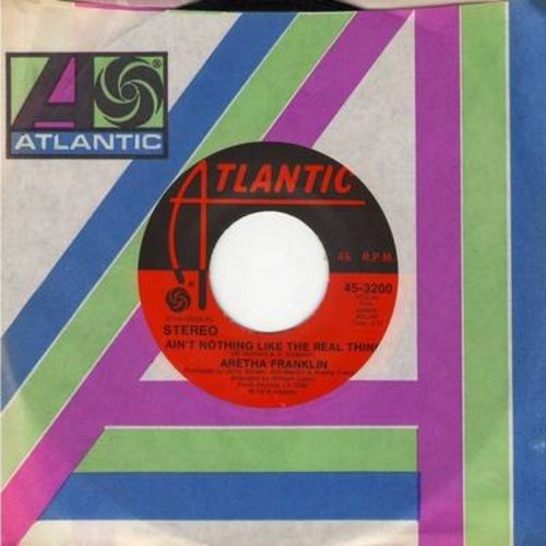 Franklin, Aretha - Ain't Nothing Like The Real Thing/Eight Days On The Road (with Atlantic company sleeve) - NM9/ - 45 rpm Records