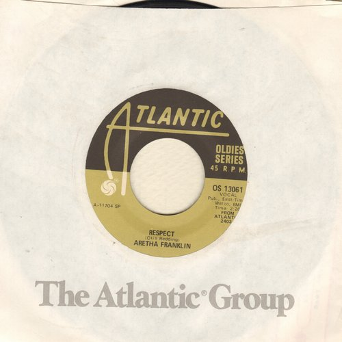 Franklin, Aretha - R-E-S-P-E-C-T (PARTY FAVORITE!)/You're All I Need To Get By (re-issue) - VG7/ - 45 rpm Records