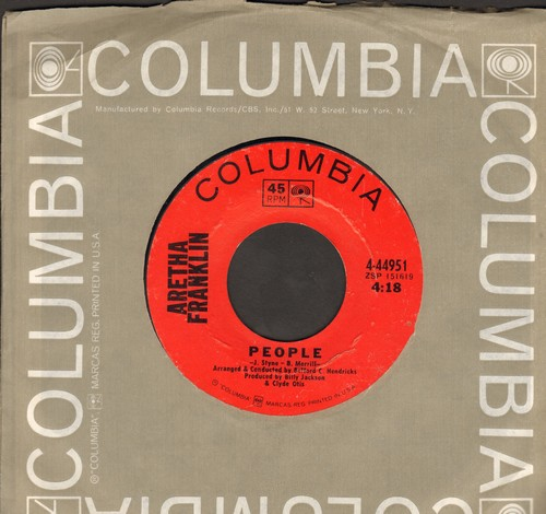 Franklin, Aretha - People/Today I Sing The Blues - EX8/ - 45 rpm Records