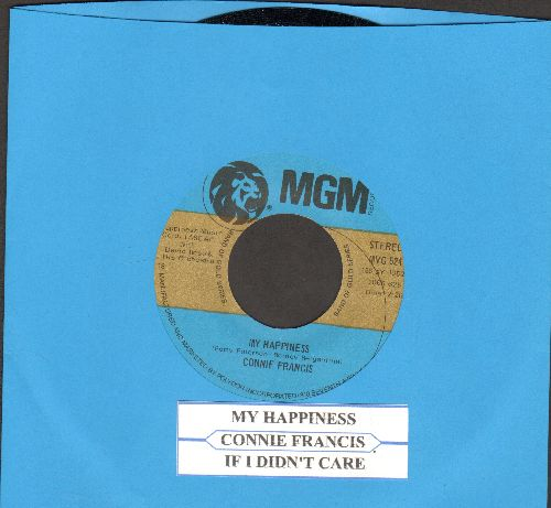 Francis, Connie - If I Didn't Care/My Happiness (double-hit re-issue with juke box label) - NM9/ - 45 rpm Records